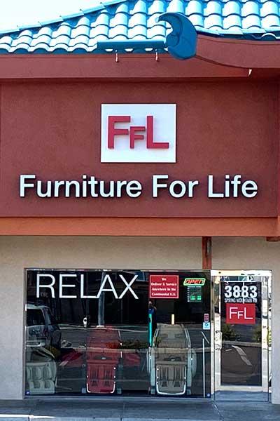 Las Vegas, Cửa hàng ghế mát xa NV